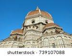 duomo basilica cathedral church ... | Shutterstock . vector #739107088