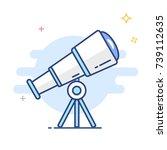 astronomy telescope  line... | Shutterstock .eps vector #739112635