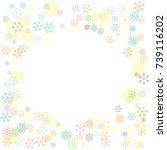 round frame or border christmas ... | Shutterstock .eps vector #739116202