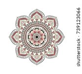 flower mandalas. vintage... | Shutterstock .eps vector #739123066