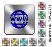www globe engraved icons on... | Shutterstock .eps vector #739127176
