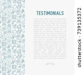 testimonials and quote concept... | Shutterstock .eps vector #739135372
