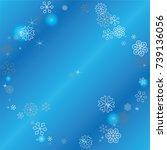 round frame or border christmas ... | Shutterstock .eps vector #739136056