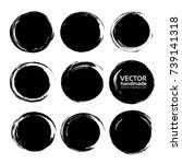 circle black abstract ink...   Shutterstock .eps vector #739141318