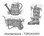 gardening typography posters... | Shutterstock .eps vector #739141492