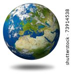 planet earth featuring europe... | Shutterstock . vector #73914538