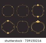 gold round frame set with... | Shutterstock .eps vector #739150216