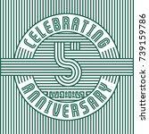 5 years anniversary logo.... | Shutterstock .eps vector #739159786