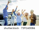 friends travelling together | Shutterstock . vector #739160086