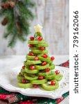 healthy dessert idea for kids... | Shutterstock . vector #739162066