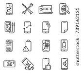 phone repair icon set. breakage ... | Shutterstock .eps vector #739162135