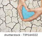 people holding hands in shape...   Shutterstock . vector #739164322