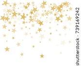 gold flying stars confetti... | Shutterstock .eps vector #739169242