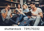 students are studying in... | Shutterstock . vector #739170232