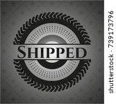 shipped dark badge | Shutterstock .eps vector #739173796