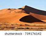 red sand dunes in the namib...   Shutterstock . vector #739176142