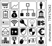 set of 22 business symbols of... | Shutterstock .eps vector #739176262