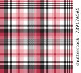 white pink color plaid seamless ... | Shutterstock .eps vector #739176565