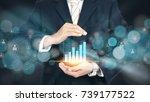 businessman holding digital... | Shutterstock . vector #739177522