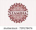 red passport rossete with text... | Shutterstock .eps vector #739178476