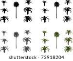 vector set date palms | Shutterstock .eps vector #73918204