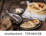 home made pita bread with... | Shutterstock . vector #739184158