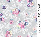 floral pattern | Shutterstock .eps vector #739192462