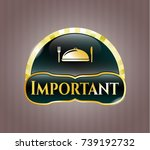 gold shiny badge with special... | Shutterstock .eps vector #739192732
