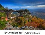 pravcicka brana  rock monument  ... | Shutterstock . vector #739195138