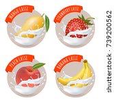 indian mango lassi stickers.... | Shutterstock .eps vector #739200562