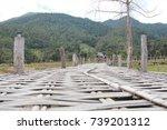 bridge wood in district pi...   Shutterstock . vector #739201312