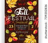 fall festival poster template.... | Shutterstock .eps vector #739202836