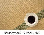 japanese tatami matting and... | Shutterstock . vector #739210768