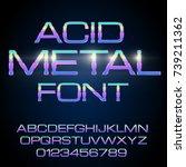 elegant acid toxic colored thin ... | Shutterstock .eps vector #739211362