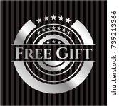 free gift silver shiny emblem