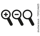 magnifier glass icons | Shutterstock .eps vector #739214605