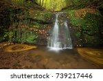 waterfall butzerbachtal during... | Shutterstock . vector #739217446