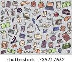 business doodles set | Shutterstock .eps vector #739217662