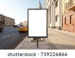 blank street billboard poster... | Shutterstock . vector #739226866
