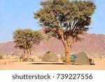 tents in a campsite in sesriem...   Shutterstock . vector #739227556