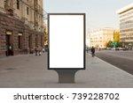 blank street billboard poster... | Shutterstock . vector #739228702