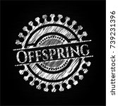 offspring chalkboard emblem... | Shutterstock .eps vector #739231396