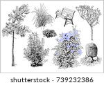 vector set with elements of... | Shutterstock .eps vector #739232386