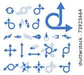 vector arrow signs collection | Shutterstock .eps vector #73923664