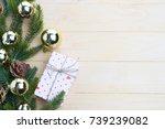 christmas gift presents in... | Shutterstock . vector #739239082
