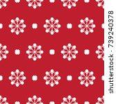 pattern seamless christmas... | Shutterstock .eps vector #739240378