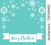 template christmas  with free... | Shutterstock .eps vector #739240402