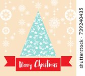 template christmas  with free... | Shutterstock .eps vector #739240435