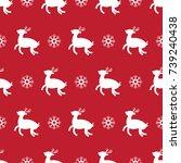pattern seamless christmas... | Shutterstock .eps vector #739240438