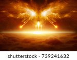 apocalyptic religious... | Shutterstock . vector #739241632